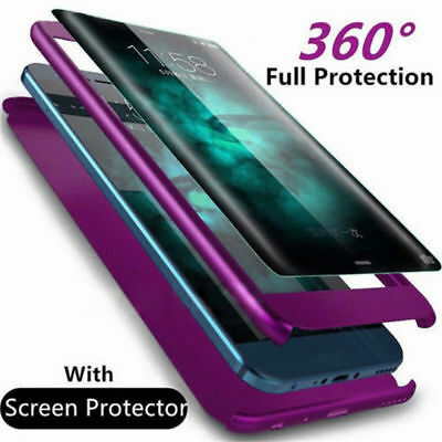 Luxury 360 Degree Full Cover Phone Shockproof Case For Samsung Galaxy S9 S8 Plus