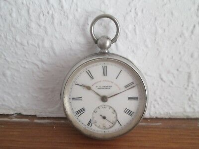 Victorian 1901 Silver Express English Lever Pocket Watch   J G  Graves Sheffield
