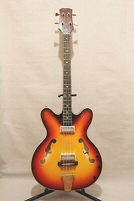 Maria plastic hollow body ussr Vintage Rare Retro Year soviet old bass guitar