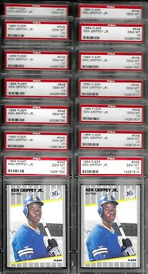Ken Griffey Jr Mariners 1989 Fleer #548  Rookie Card RC PSA 10 Gem Mint