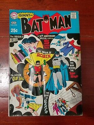 Batman #213 30th Anniversary Issue (DC GIANT 1969)