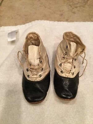 Antique Victorian Baby / Child Leather Shoes