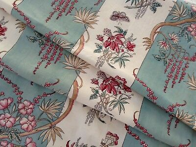 Gorgeous antique French block printed  cotton/ linen  Indienne type design
