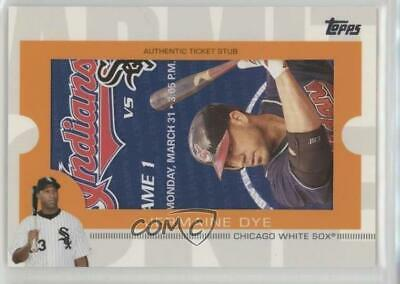 2009 Topps Ticket To Stardom Stubs #TS-65 Jermaine Dye Chicago White Sox Card