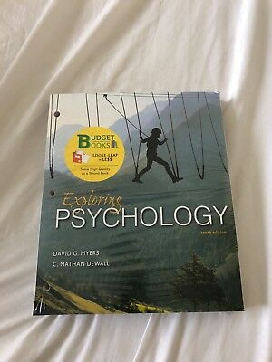 Exploring Psychology by David G. Myers and C. Nathan DeWall 10th EDITION NEW