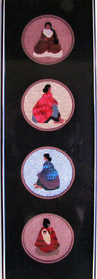 3x Needlepoint Pattern  Mini Round Ladies: Front, Left, Back/Canvases-SA28
