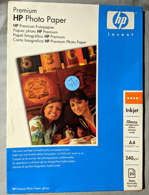 HP Premium Photo Paper, A4 240gsm, Glossy Finish, 20 Sheets, Product Code Q2519A