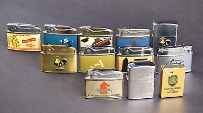 Lot Of 12 Advertising  Lighters #lt13