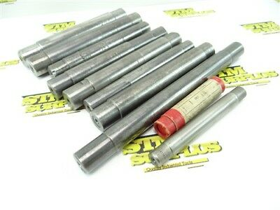 """9Pc Lot Of Assorted Lathe Mandrels 11/16"""" To 1-1/4"""""""