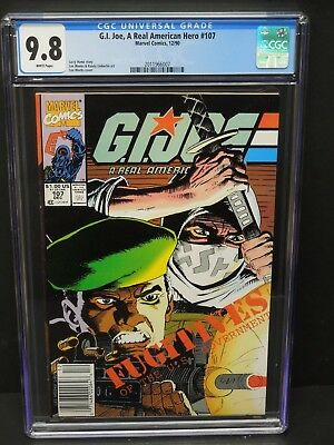 Marvel Comics G.i. Joe A Real American Hero #107 1990 Cgc 9.8 Wp Lee Weeks Cover