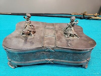 Antique Pairpoint Mfg. Co. Quadruple Silverplate Humidor Box 19th Century