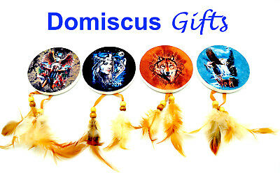 """3"""" NEW Set of 4 NATIVE AMERICAN Indian Fridge MAGNET Dream Catchers COLLECTIBLE"""