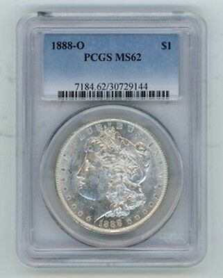 1888-O $1 Morgan Silver Dollar PCGS MS62 Graded Certified Coin