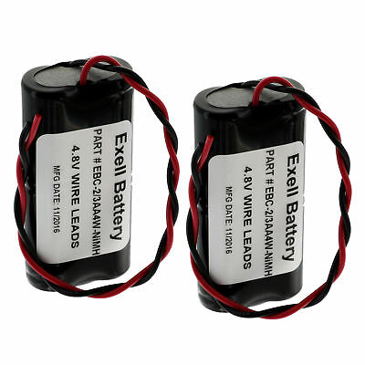 2pc Exell 4.8V 650mAh NiMH Custom Battery Pack w/ Wire Leads