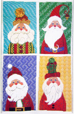 "Needlepoint Pattern LIBBY STURDY The 4 Santa Patch Sampler/Canvas(8.5""x13"")-ML38"