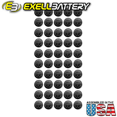 50x Exell A76 1.5V  LR44 Alkaline Watch Battery AG13 FAST USA SHIP