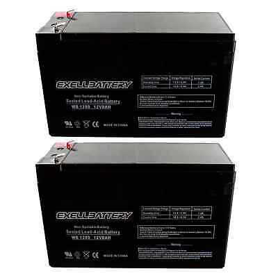 Two 12V 8Ah APC Back-UPS ES 650 UPS Battery : Replaces UPG *FAST USA SHIPPING*