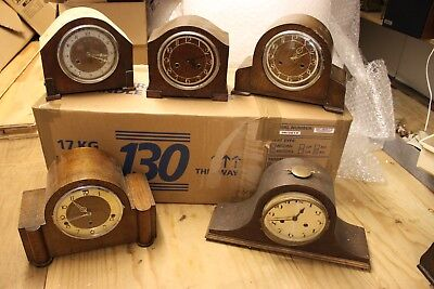 5 OLD MANTLE CLOCKS ALL FOR SPARES/REPAIRS New Year Clearout. lot 7.