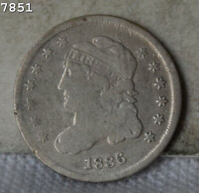 1836 Capped Bust Half Dime *Free S/H After 1st Item*