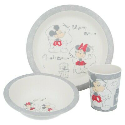 Set Bambu 3 Pcs (Plato, Cuenco Y Vaso 270 Ml.) Micke & Minnie Crfe