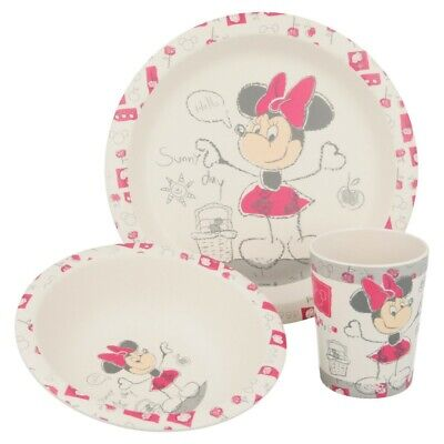 Set Bambu 3 Pcs (Plato, Cuenco Y Vaso 270 Ml.) Minnie Crfe