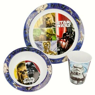 Set Micro Kids 3 Piezas (Plato, Cuenco Y Vaso 260 Ml.) Star Wars Classic