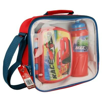 Set Back To School ( Botella Sport - Sandwichera Funny - Bolsa Aislante ) Cars