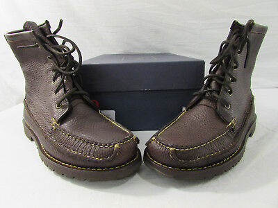 67339b32b89 BROOKS BROTHERS HUNTING Duck Boots Waterproof Leather Rubber Men s ...