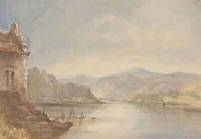 Margaret (Daisy) George - Mid 19th Century Watercolour, Lake Ullswater