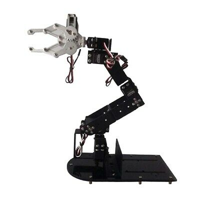 NEW 6-DOF Robot Clamp Claw Mount Kit Mechanical Robotic Arm With Servos