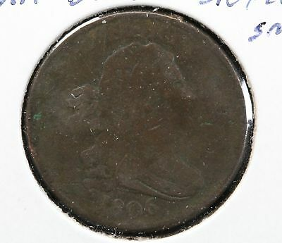 1806 Draped Bust Half Cent Stemless Small 6