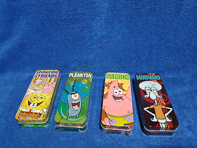Burger King Sponge Bob Square pants Watches, set of 4 Sealed Watches in Tins