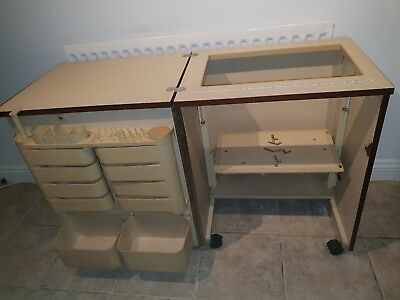 horn air lift sewing machine cabinet with storage sections 80 00 rh picclick co uk Sewing Machine Lift Kit Embroidery Sewing Machine Cabinets