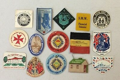 15 Vintage Celluloid & Card Appeal Day Pin Badges 1915 King Albert Belgium Lot 4