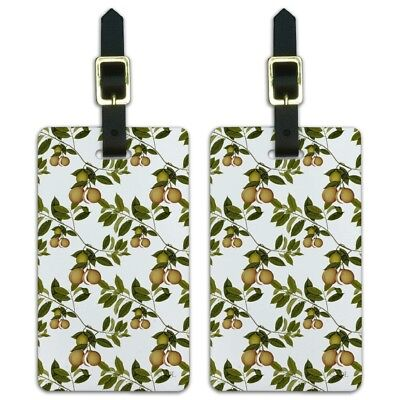 Fruit Tree Pattern Luggage ID Tags Suitcase Carry-On Cards - Set of 2