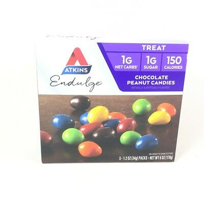 Atkins Endulge Chocolate Peanut Candies 5-1.2 Oz Packs