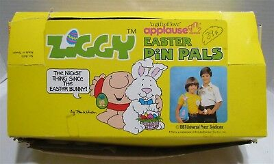1981 Applause Ziggy Easter Pin Pals, box of 67 pins