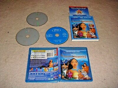 Pocahontas 2-Movie Collection (Blu-ray Disc, 2012, 2-Disc Set) w/Slipcover