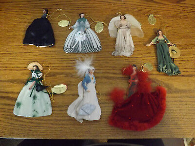 Legendary Costumes of Scarlett O'Hara Ornament Collection of 7 Bradford Exchange