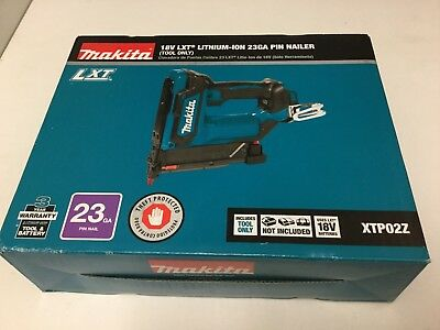 Makita XTP02Z 23 Gauge 18V LXT Lithium-ion Cordless Pin Nailer