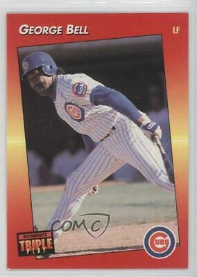 1992 Donruss Triple Play 42 George Bell Chicago Cubs Baseball Card