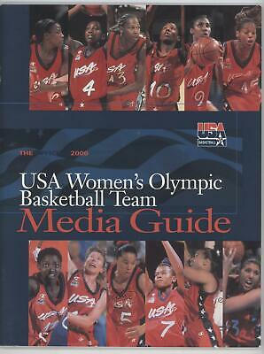 2000 Basketball Media Guides #USAW Team USA (Olympics Women) Publications