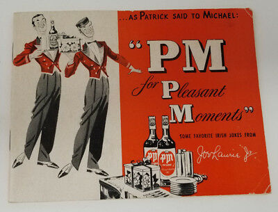 PM for Pleasent Memories Joe Laurie Jr. Drink Recipe Comic Booklet 1950