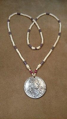 Silver Queen Anne Peace Medallion (Repro) Longhunter, Eastern Woodlands
