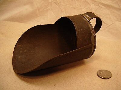 Vintage Tinware Scoop~Smaller Plated Tin~Antique Dry Goods