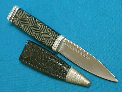 Vintage Scottish Celtic Sgian Dubh Black Sock Sash Boot Knife Skean Dhu Antique