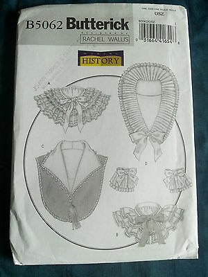 Butterick B5062 Victorian 19th Century Collars & Ruffs Historical Costume