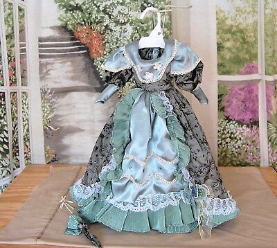 """Vintage French Victorian style dress 4 Antique bisque French Lady doll LG.22"""""""