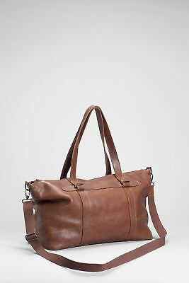 Brand New Elk Mand Duffle Leather Bag, Juicy Tan Colour, Style G0714S15