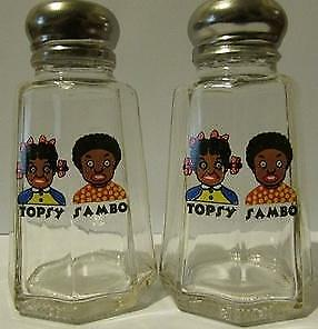 Charming Set Topsy & Sambo Salt & Pepper Shakers